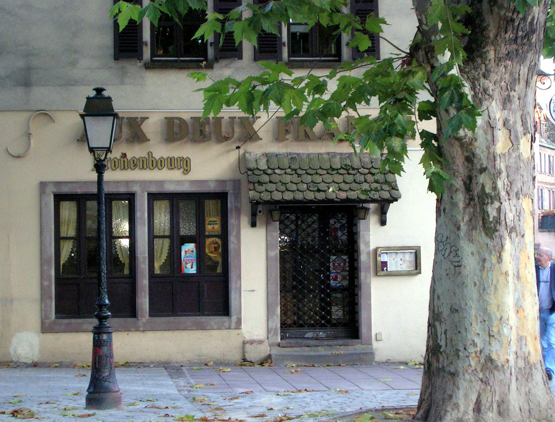 File restaurant aux deux france for Reso strasbourg