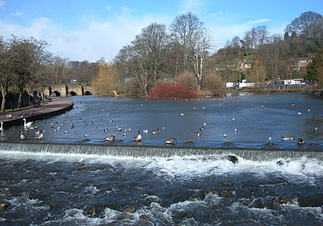 River Wye Bakewell - geograph.org.uk - 713943