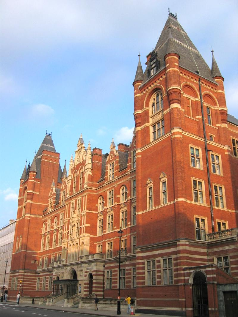 Royal College of Music (1894 site), where Holst and Ralph Vaughan Williams studied in 1895.