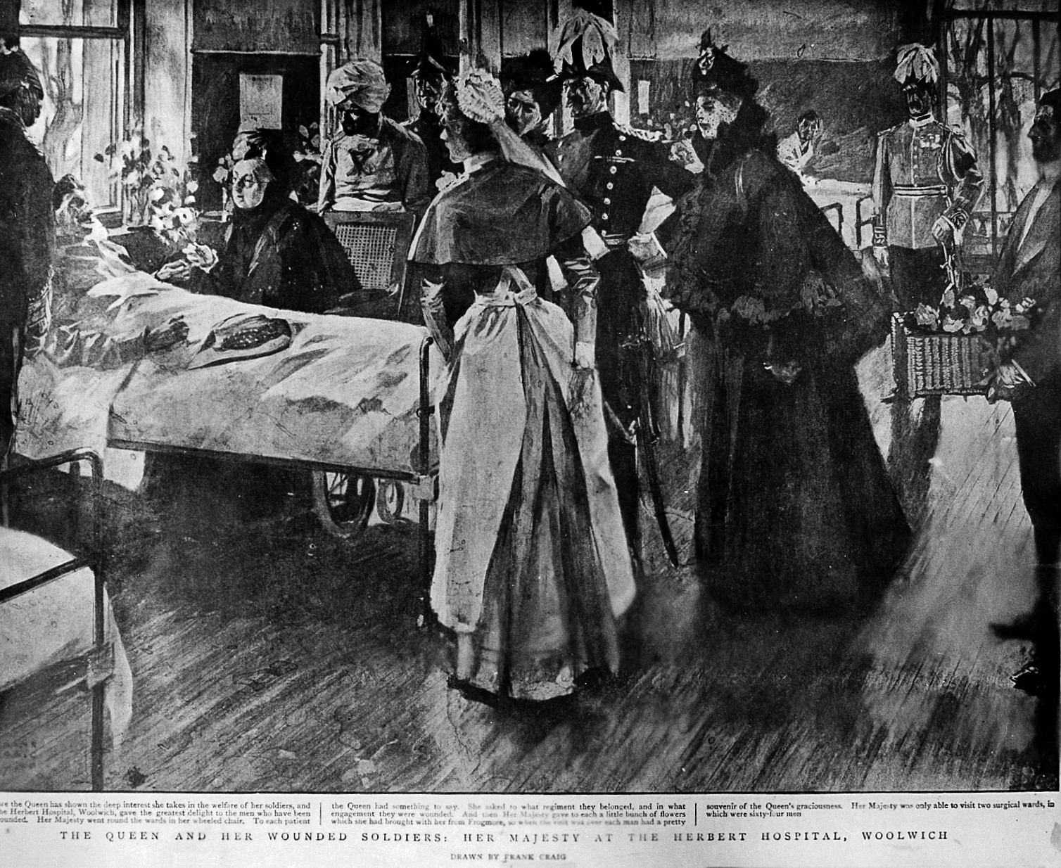 Line Drawing Of Queen Victoria : File royal herbert hospital woolwich visit of queen