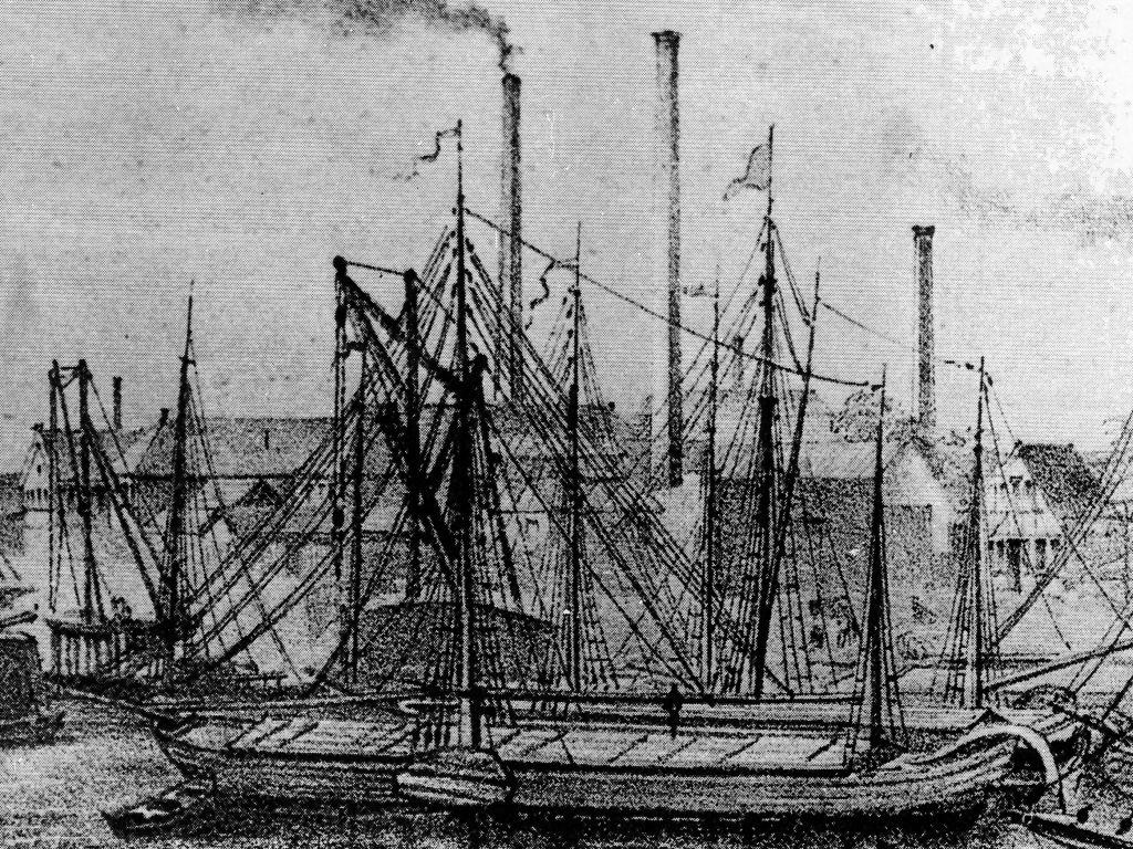 Ruhrschiff um 1870, Duisburg