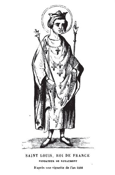 Saint-Louis (d'après une vignette de 1316)