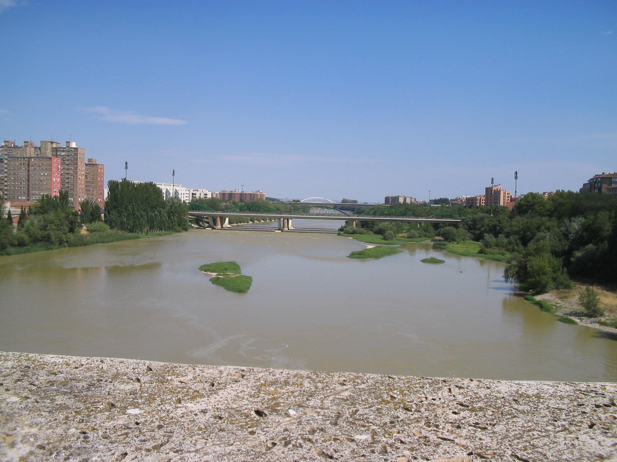 Descripció scorcio sul fiume ebro (30 lug 06)
