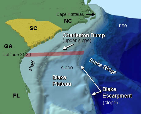Southeastern United States continental shelf