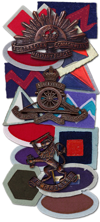 Sparrow Force cap badges and unit patches.png