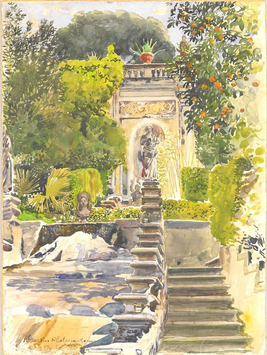 FileStanisaw Masowski 1853 1926 Fountain at Garden of
