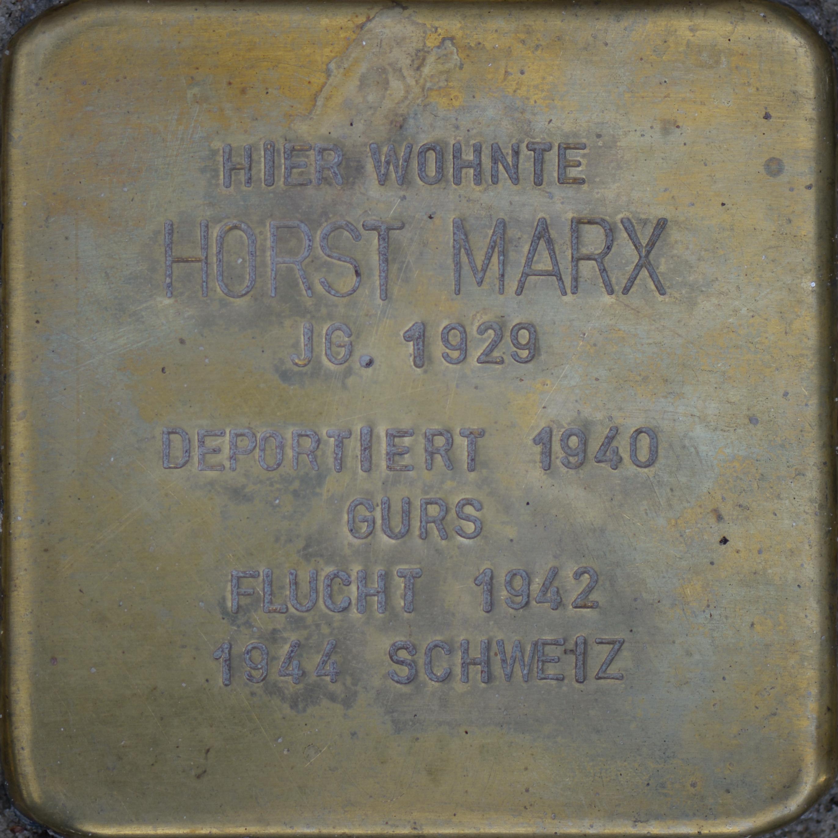 Datei:Stolperstein Marx, Horst (2016).jpg – Wikipedia