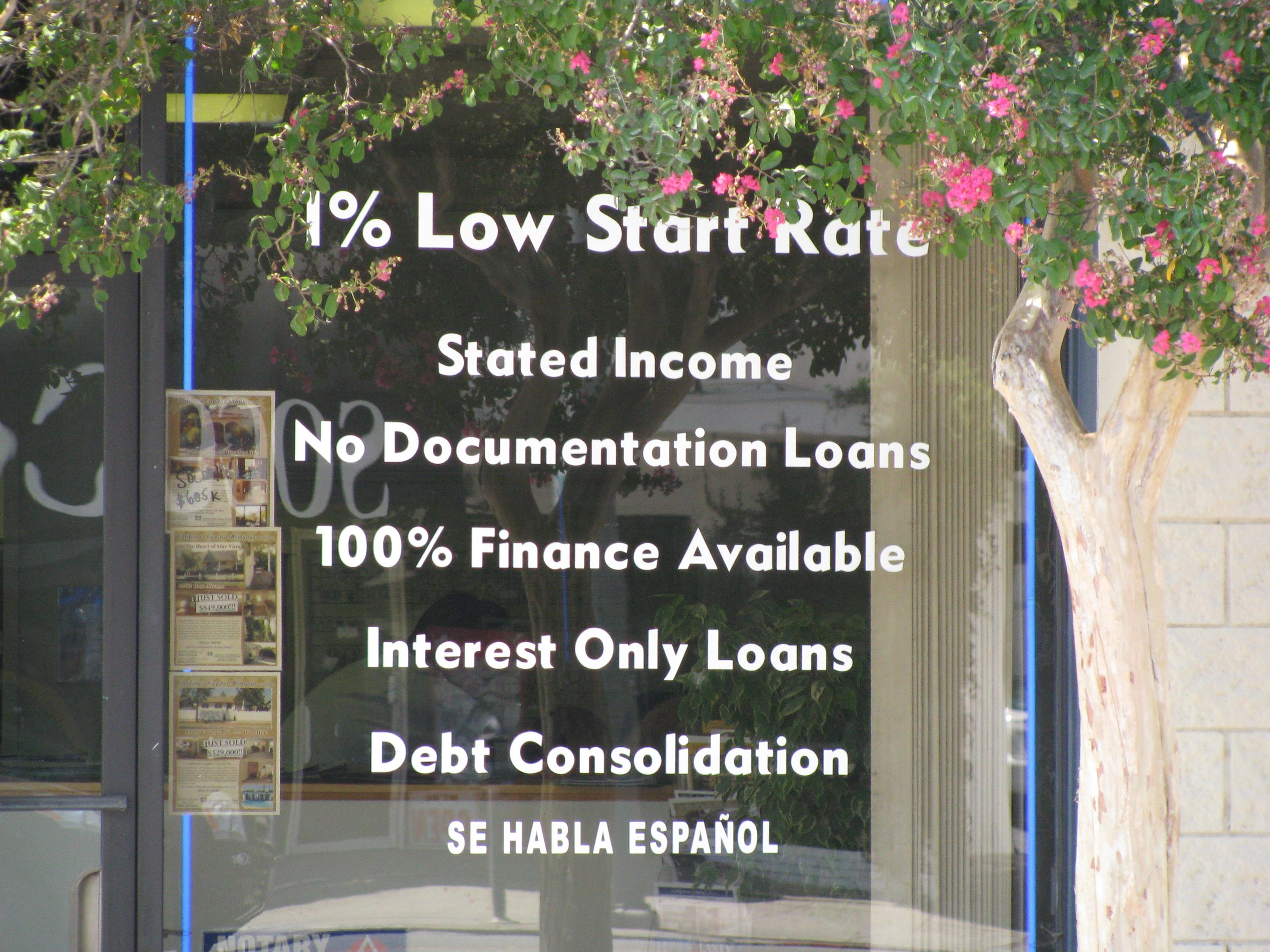 Met dit soort lokrentes werden mensen die helemaal geen hypotheek konden betalen, overgehaald. Zo begon de subprime crisis.