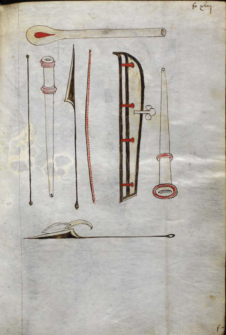 15th century surgical instruments.