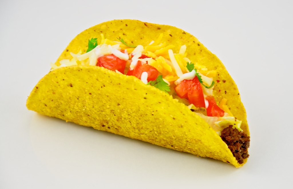 Taco with white background