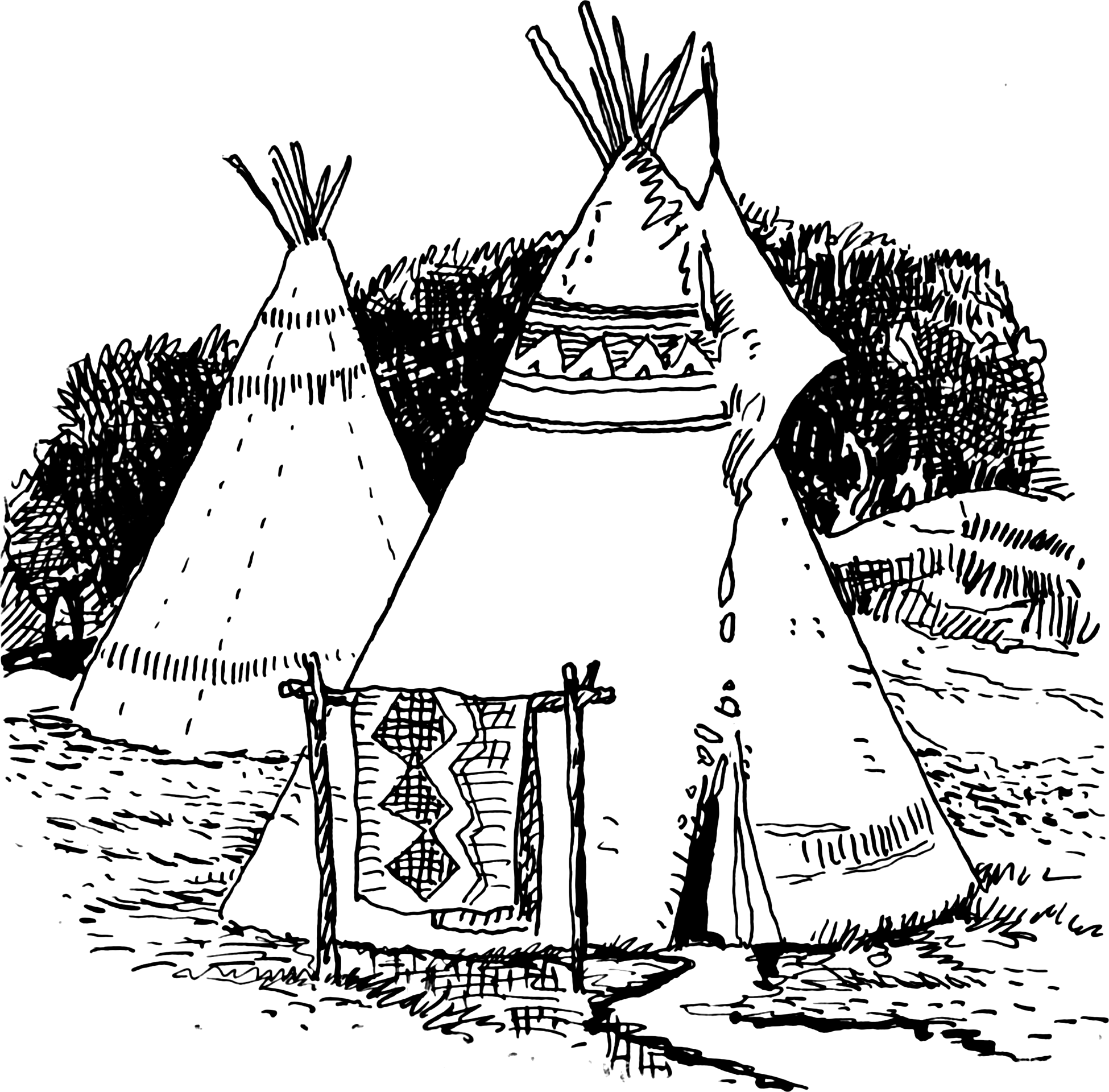 a description of the tepee Description canvas/fabric skin (representativeof materials used by the 19th century plains indians) that you decorate with your favorite designs and symbols.