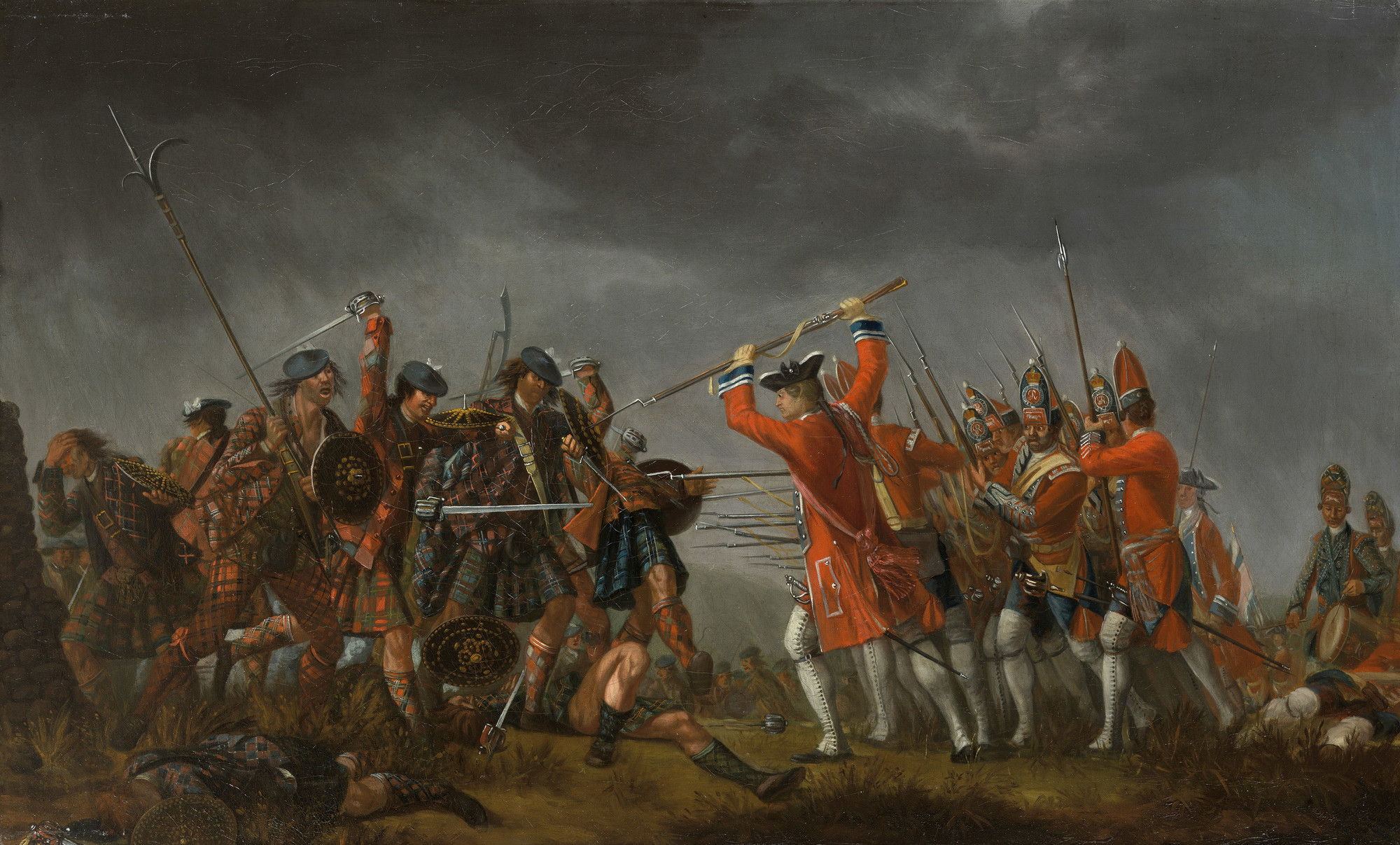 The Battle of Culloden, oil on canvas, David Morier, 1746