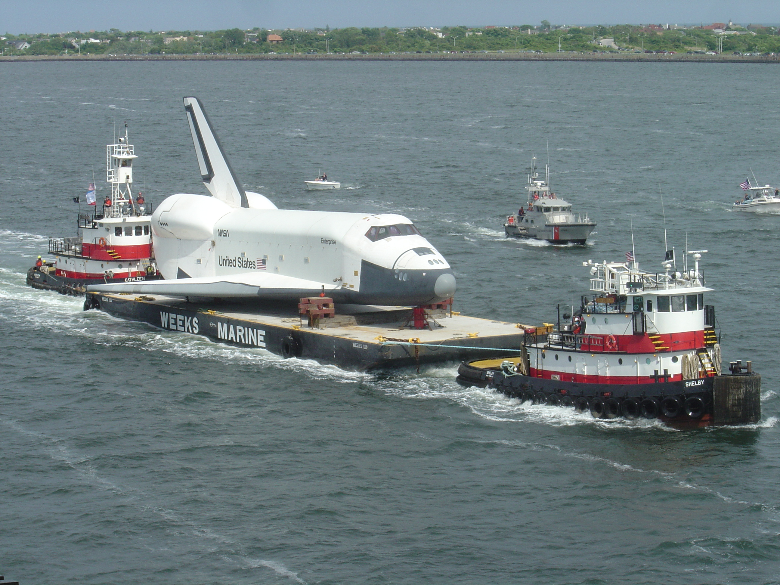 File:Transport of Space Shuttle Enterprise to Intrepid Sea ...
