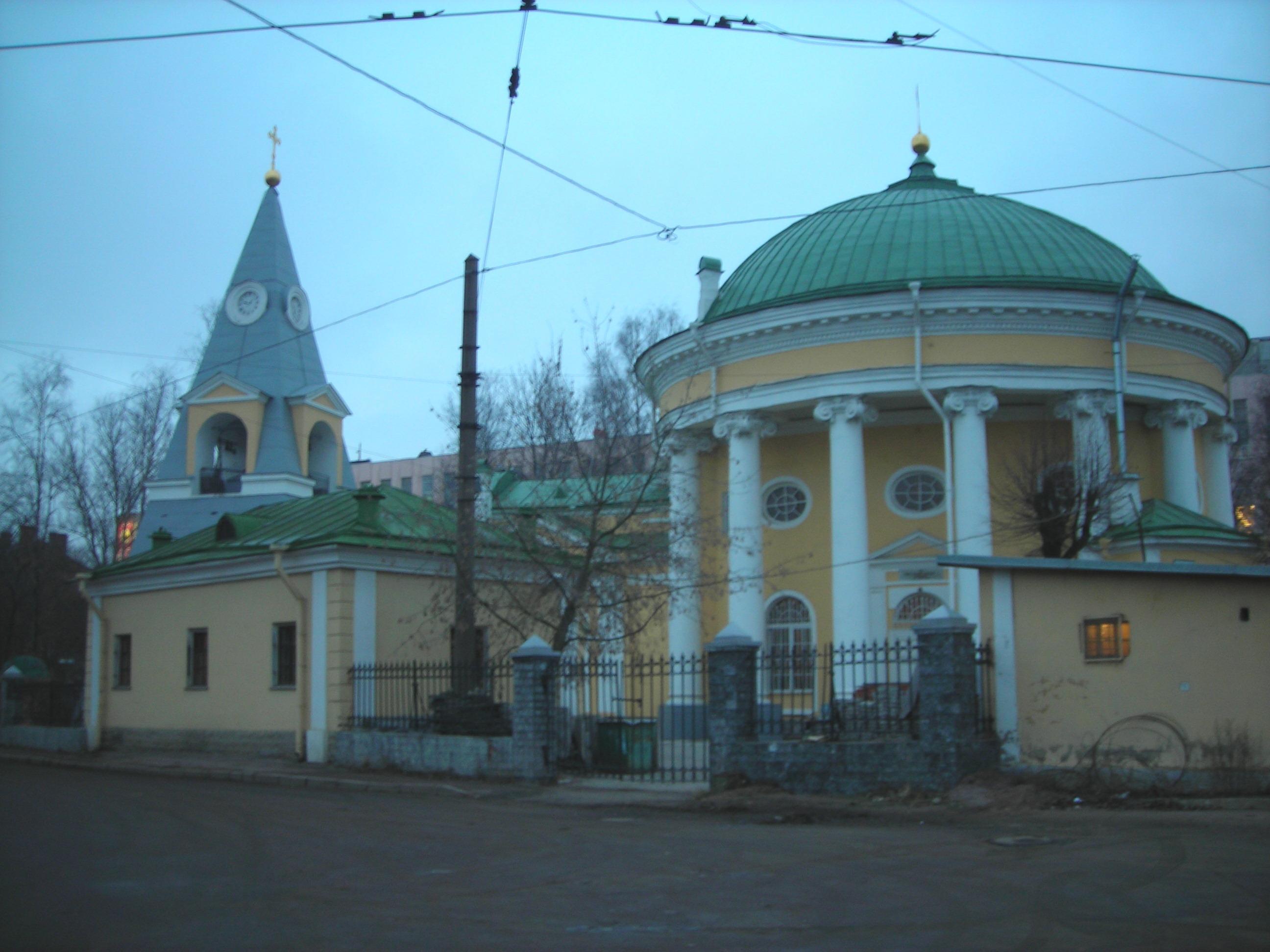 Troitskaya church in Saint Petersburg, known as