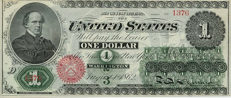 1862 United States Dollar Bill