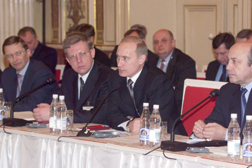 Vladimir Putin in Saint Petersburg 9-10 April 2001-10
