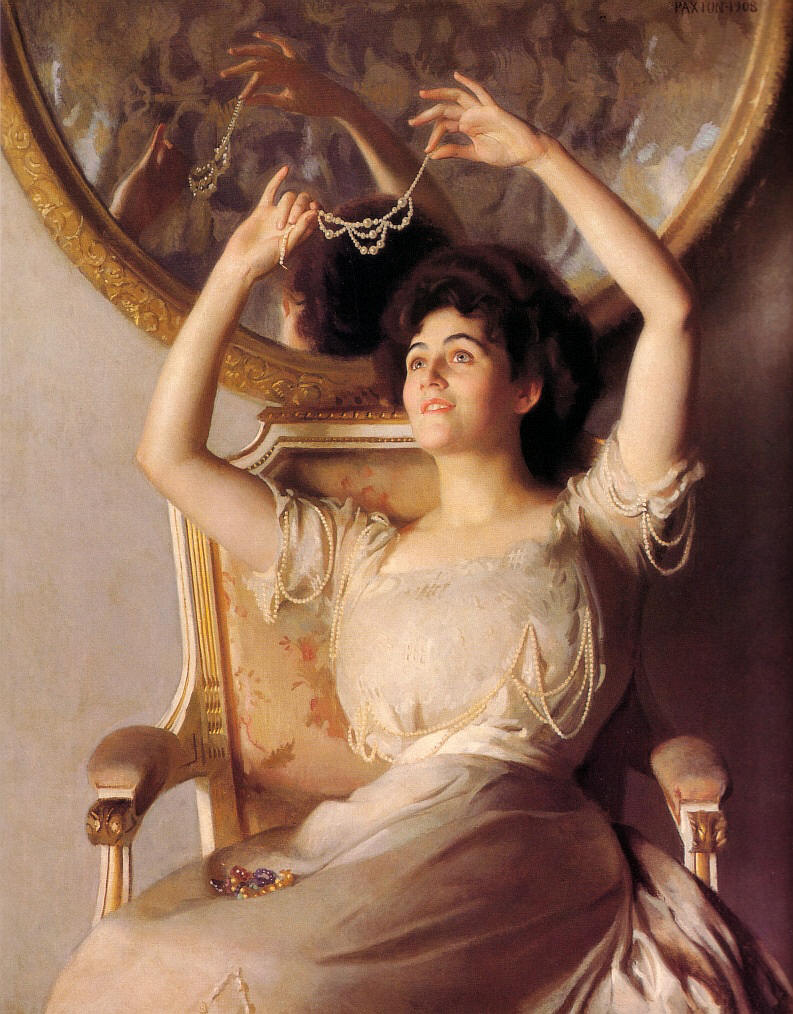 File william mcgregor paxton the string of pearls oil for Miroir tumblr