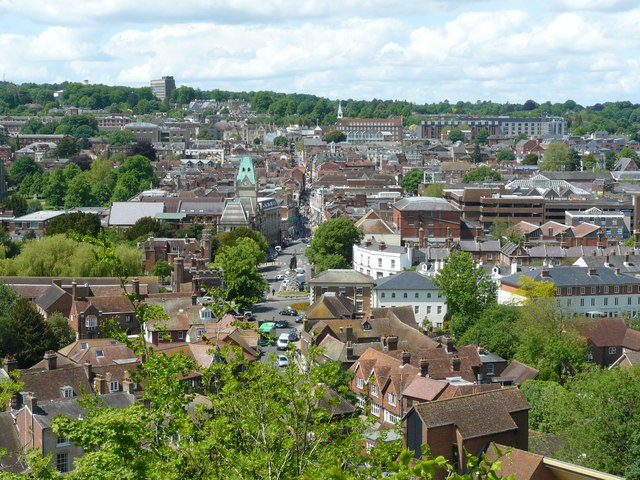 Winchester From St.Giles's Hill - geograph.org.uk - 1313858