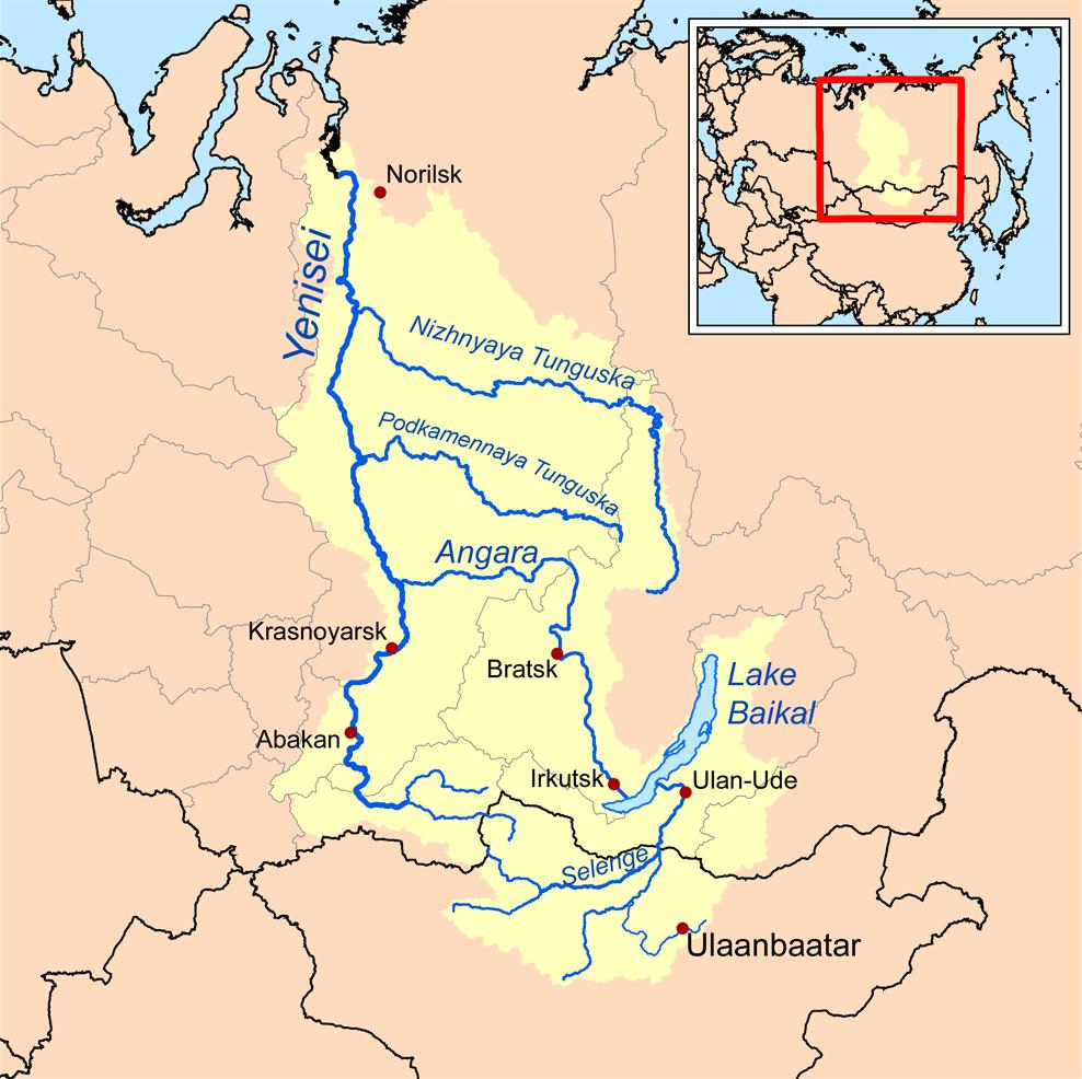 Yenisey Nehri nerede akıyor Yenisey Irmağı hangi denize akıyor