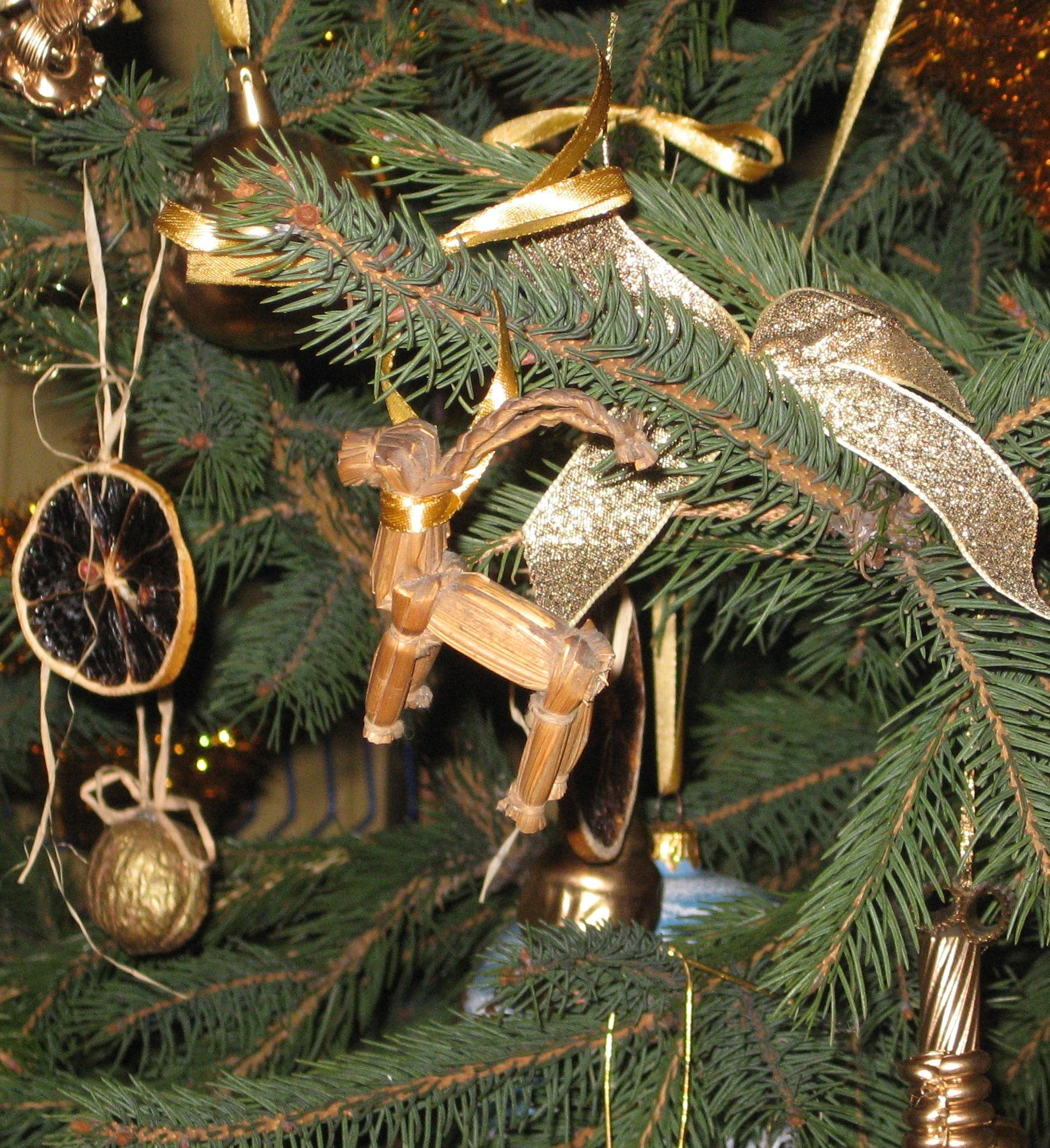 File:Yule Goat on the christmas tree.JPG - Wikimedia Commons