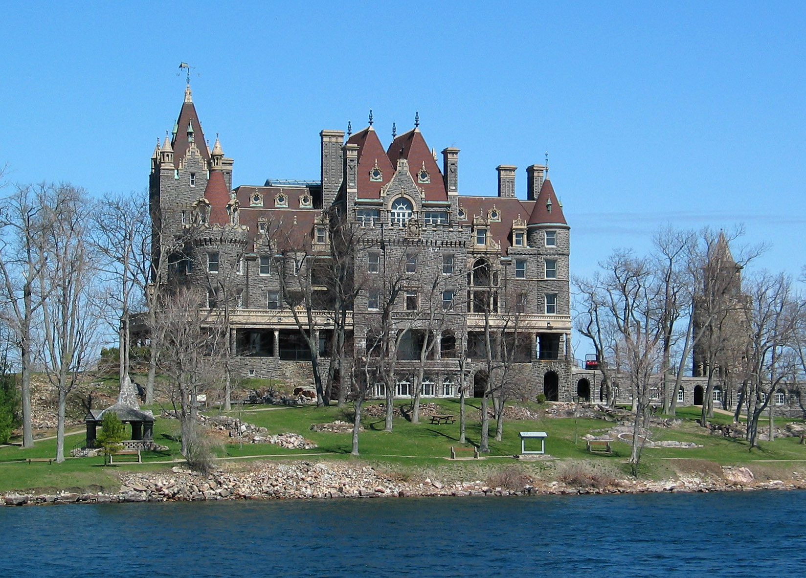 File 1000 Islands Boldt Castle St Lawrence River Usa