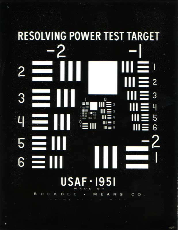 1951 Usaf Resolution Test Chart Wikipedia