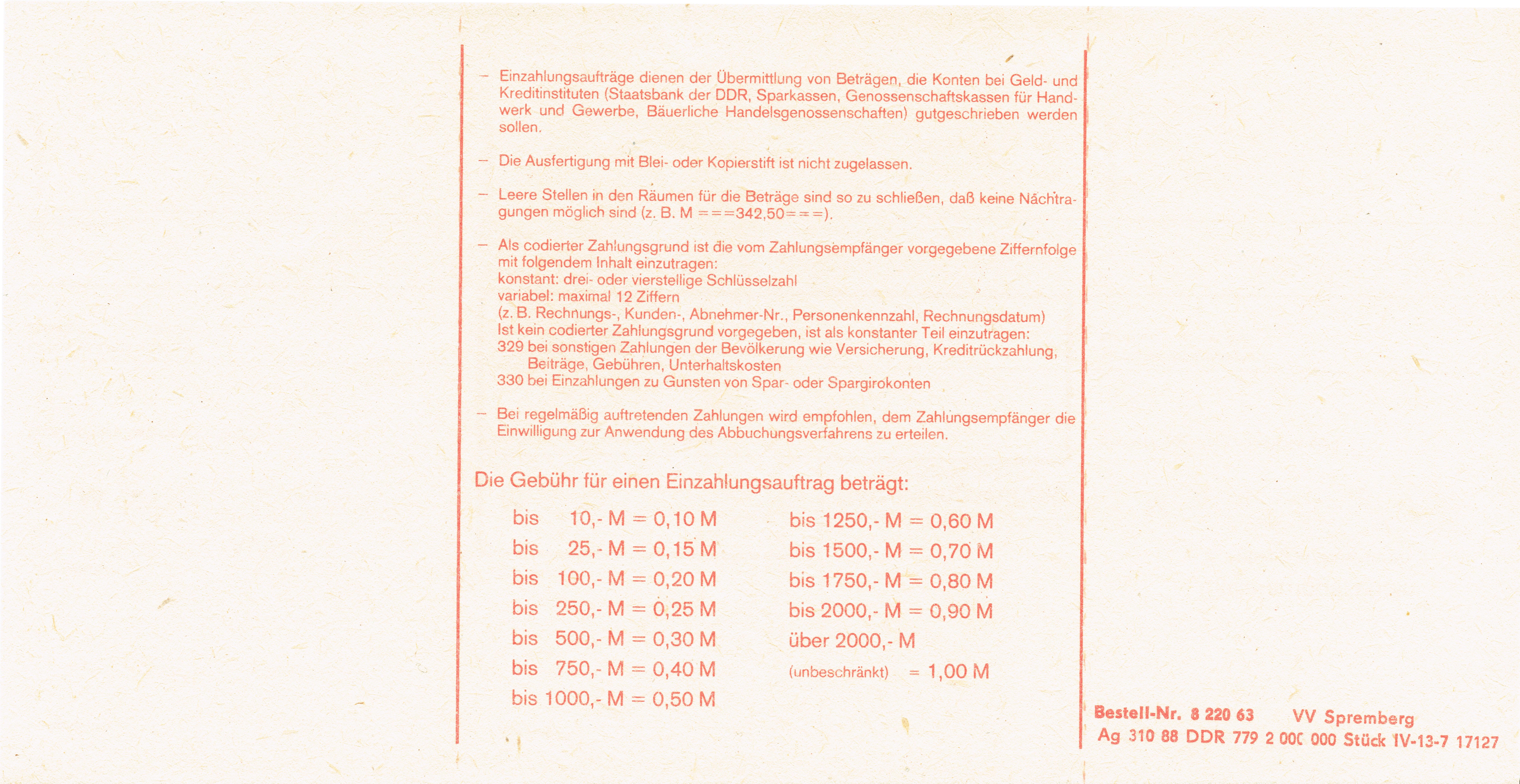 File:19881231 xl Formular der Post (DDR) Einzahlungsauftrag (fuer ...