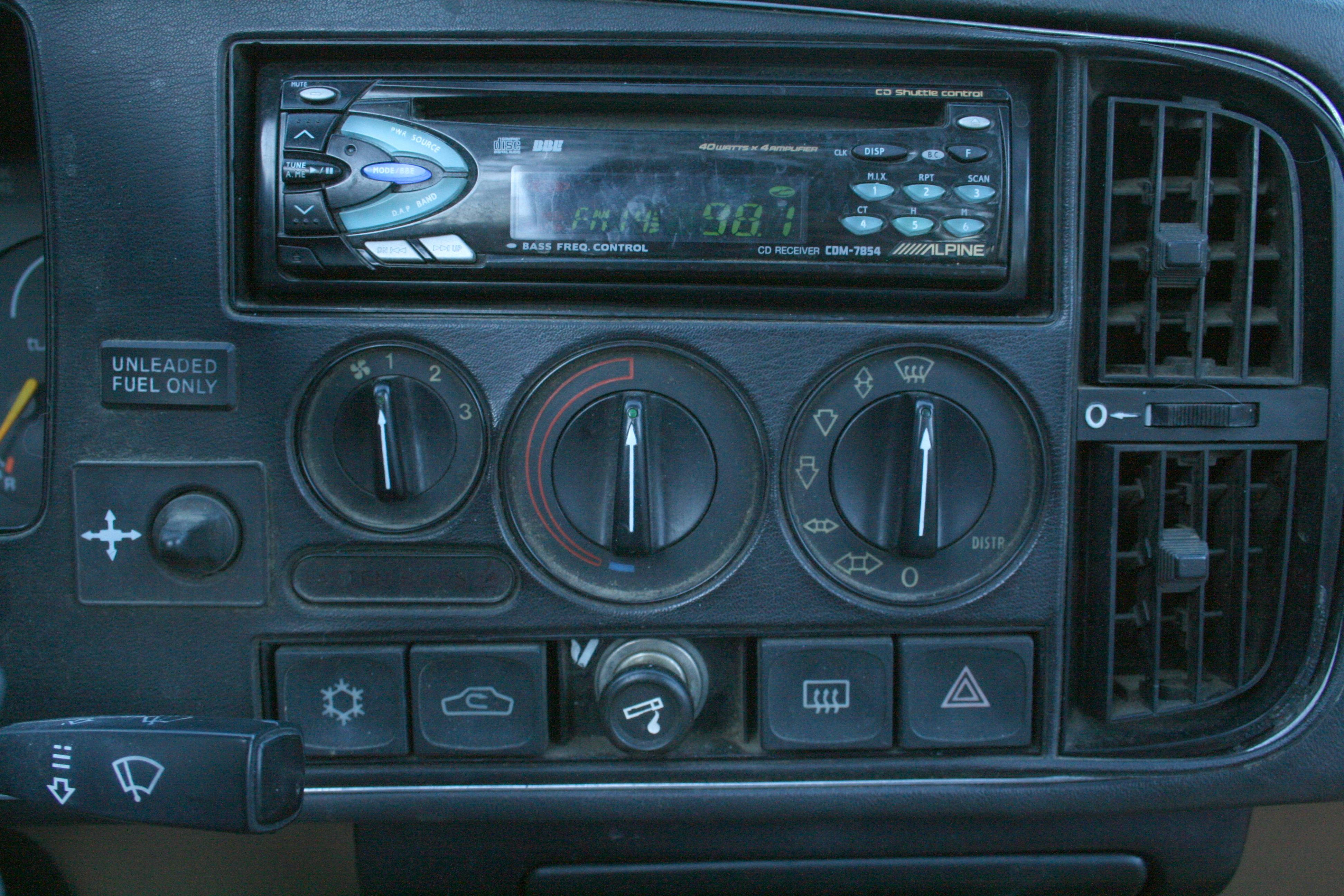 Car Radio Showing Safe