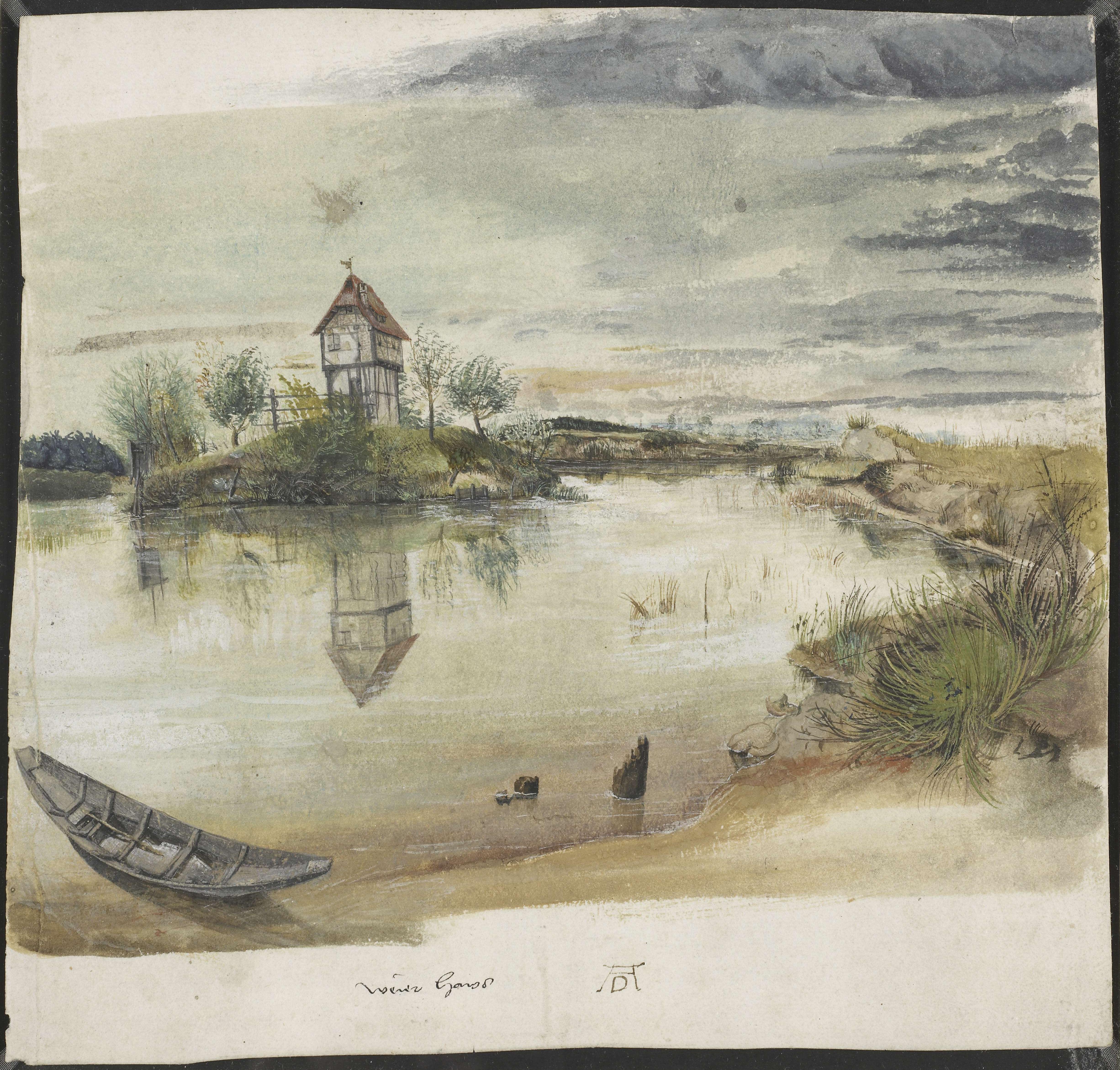 File Albrecht D 252 Rer House By A Pond Wga07357 Jpg