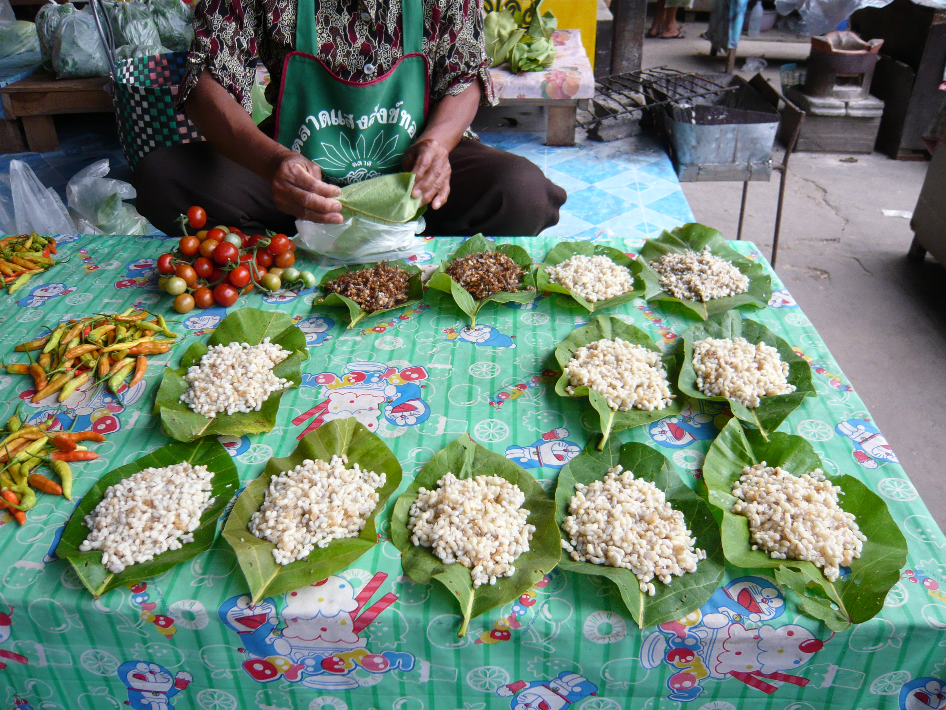 Ant larvae for sale in Isaan, Thailand