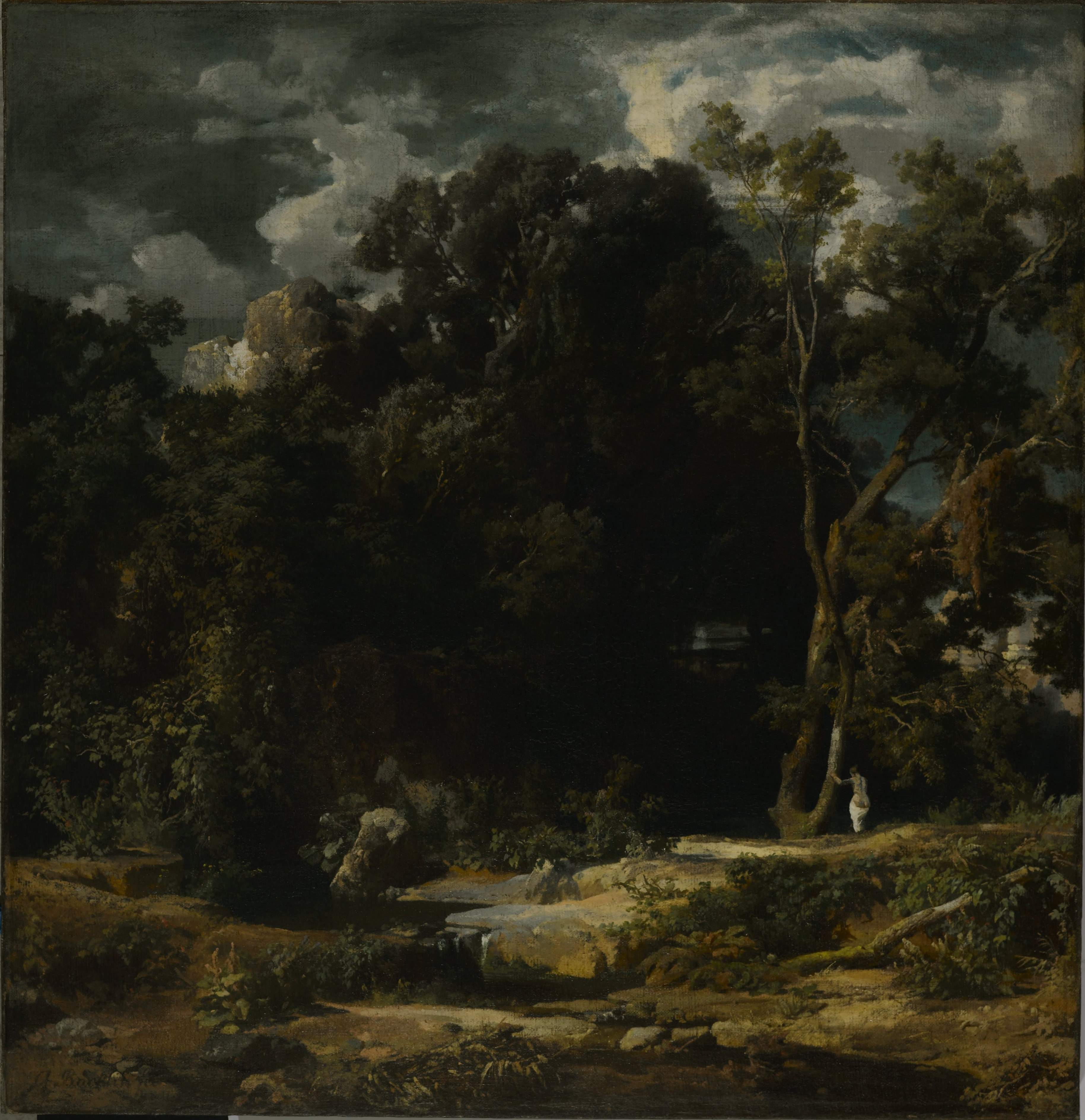 Artist With Landscape Paintings That Were History Painting