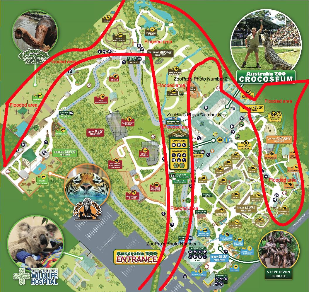 australia zoo map