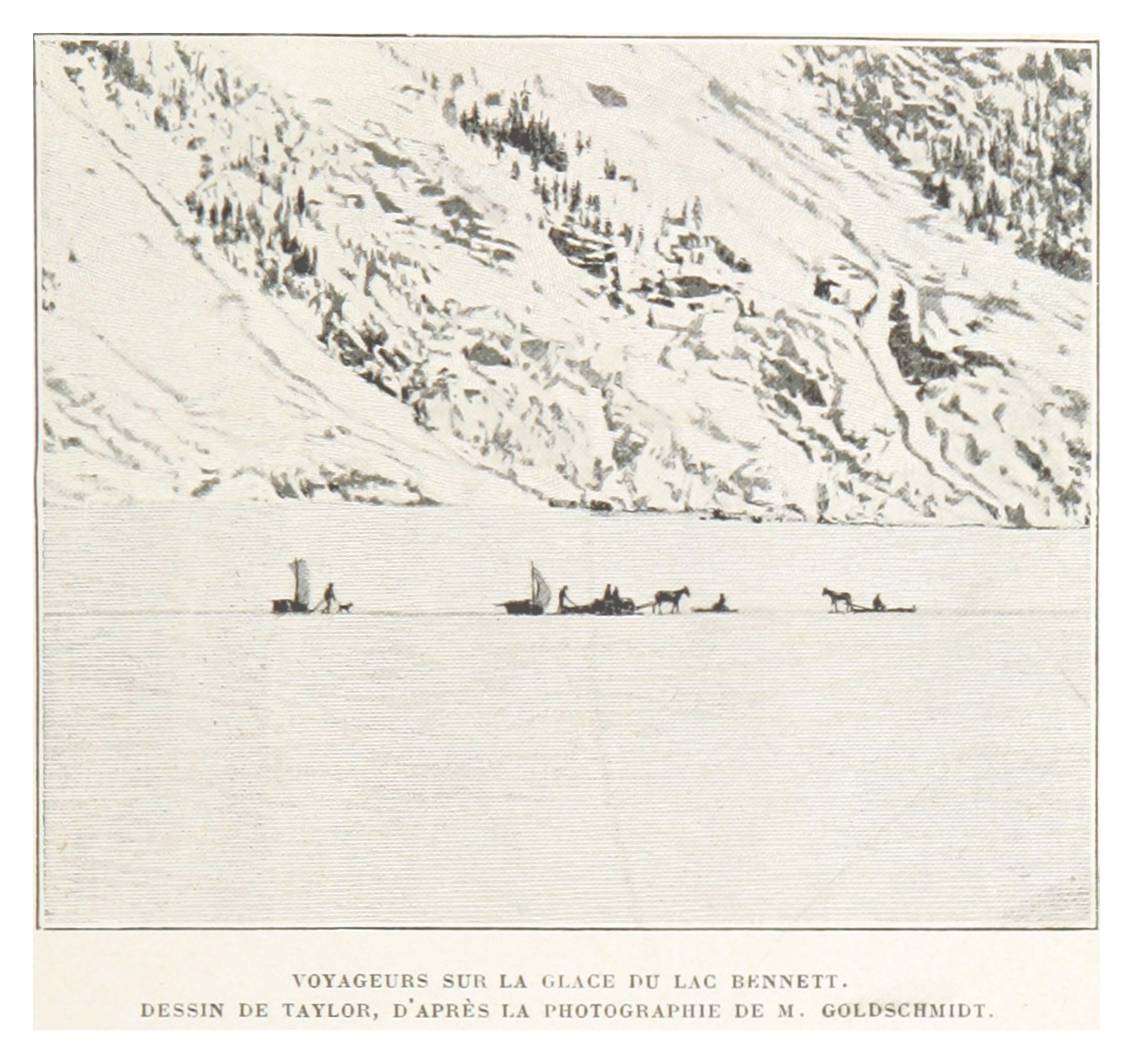 Fileboillot1899 P073 Voyageurs Sur La Glace Du Lac