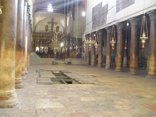 Bethlehem Church of the Nativity main nave