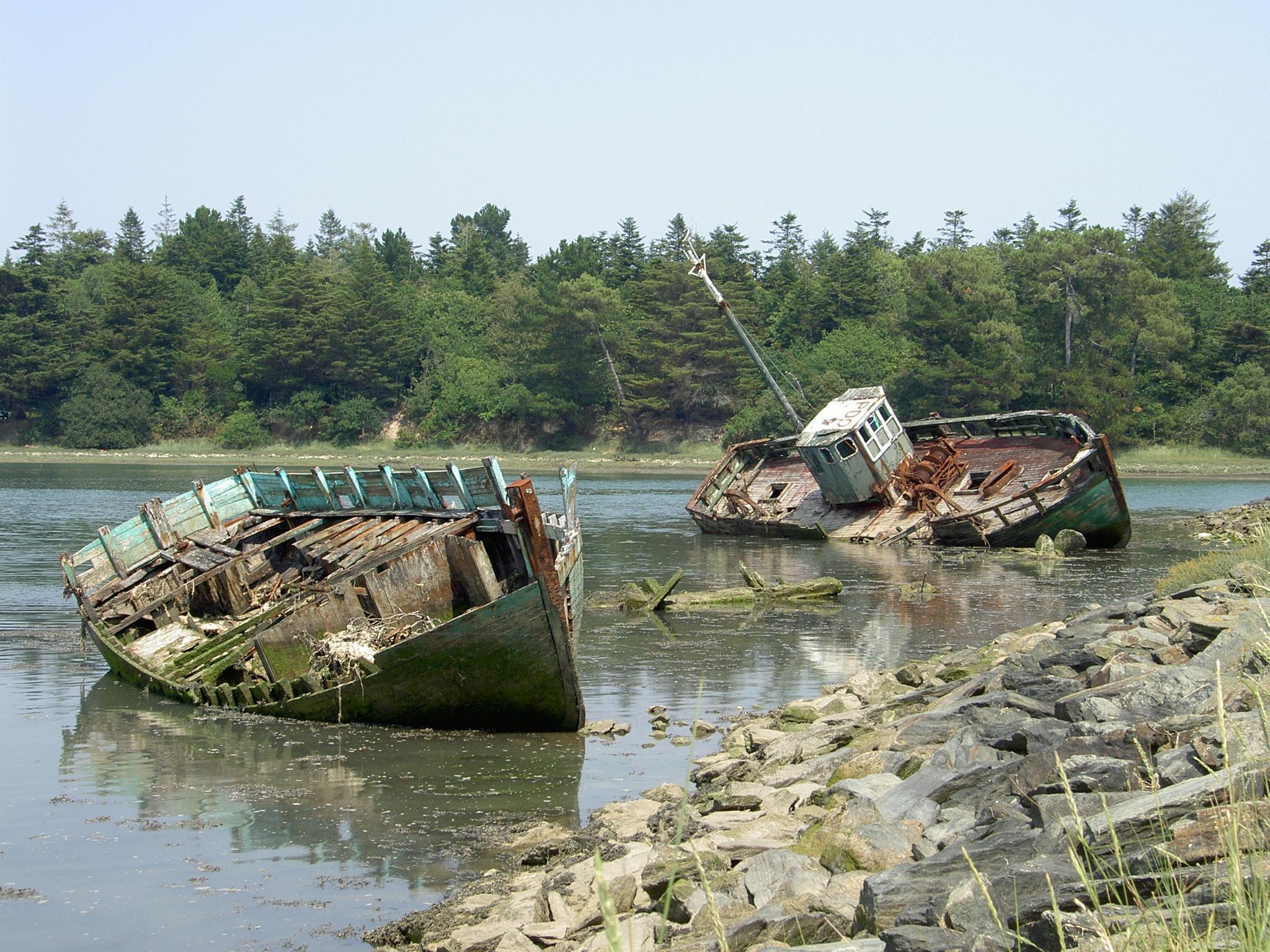 Schiffsfriedhof in Frankreich: Quelle: WikiCommons