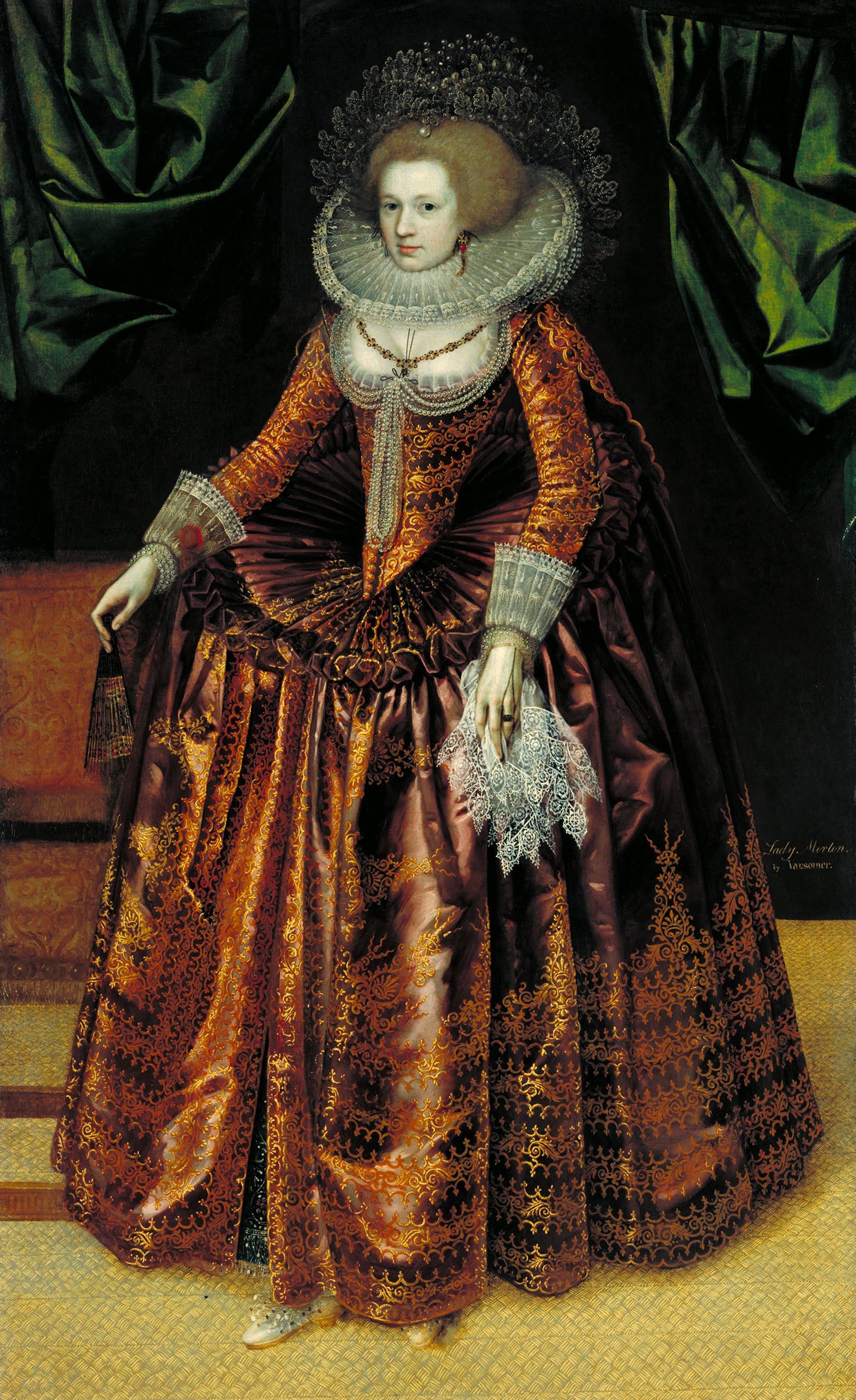 File British School 17th Century Portrait Of Anne