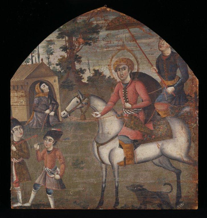 Неизвестный иранский художник. Султан Санджар и старуха. (сер. XVIII века)