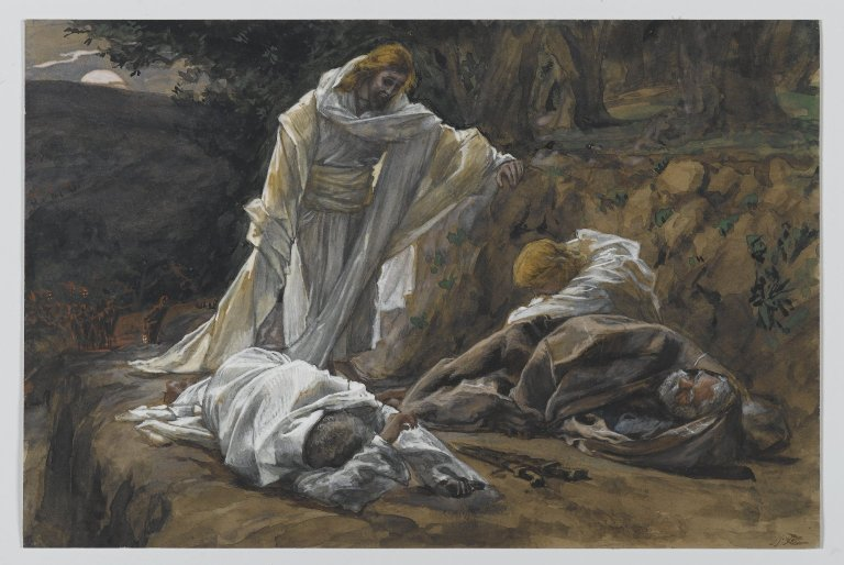 File:Brooklyn Museum - You Could Not Watch One Hour With Me (Vous n'avez pu veiller une heure avec moi) - James Tissot.jpg