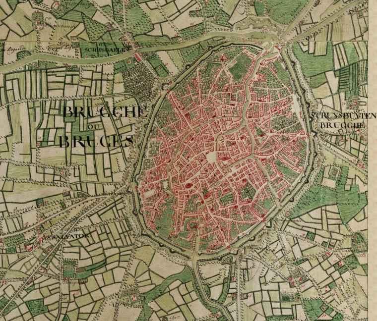 Bruges Belgium  City new picture : Bruges, Belgium ; Ferraris Map Wikipedia