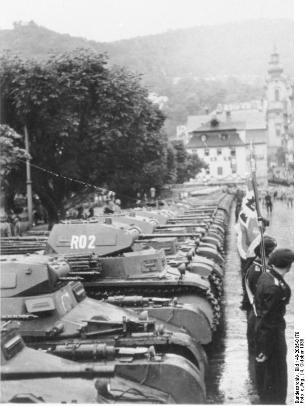 Parade line-up of a Panzer  regiment
