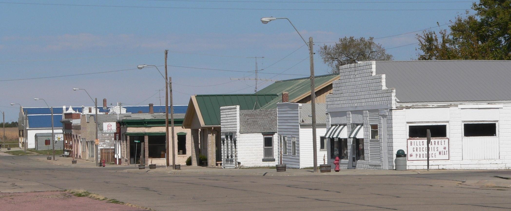 Város az államhatáron Butte,_Nebraska_Thayer_Street_3