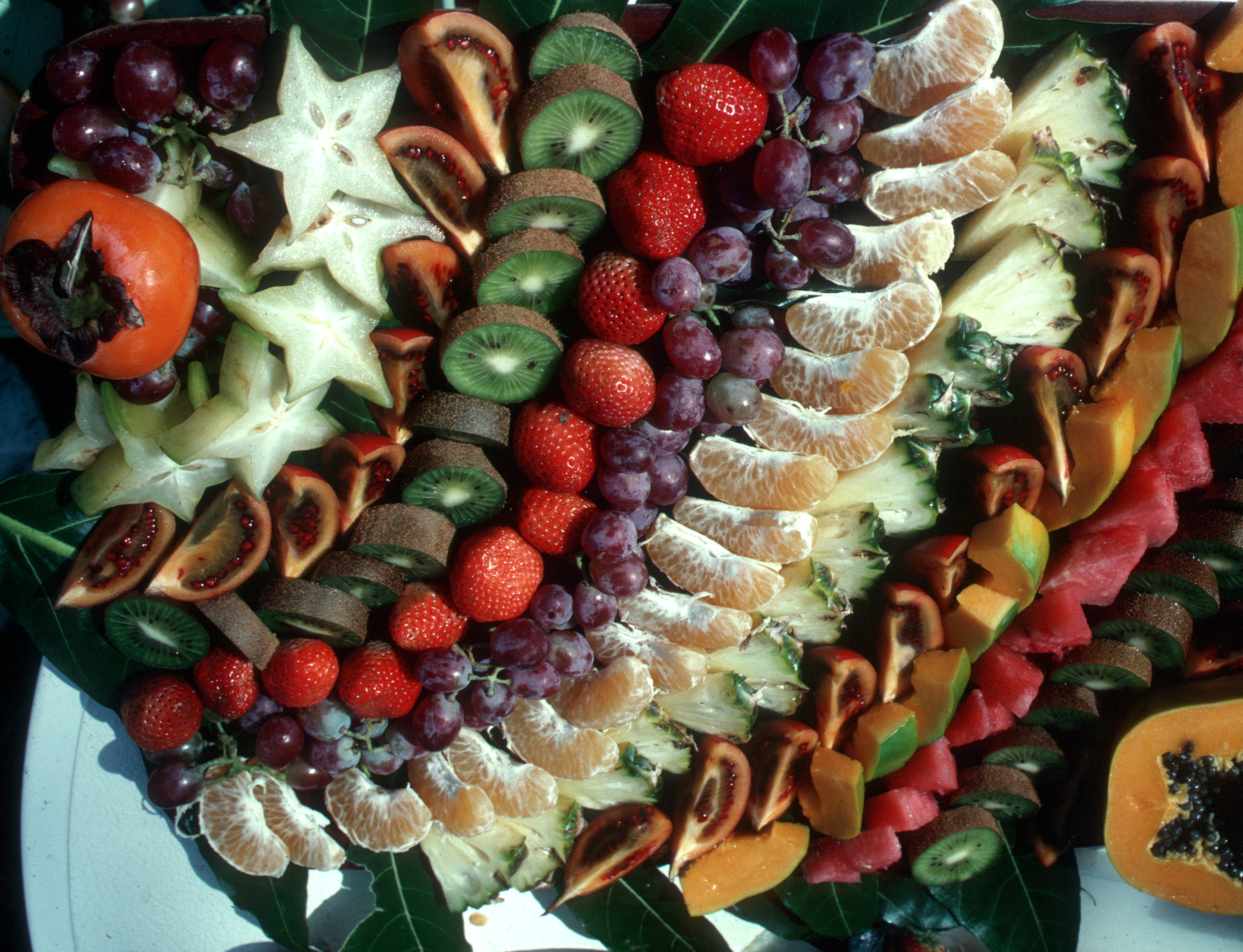 asian fruits fruit platters