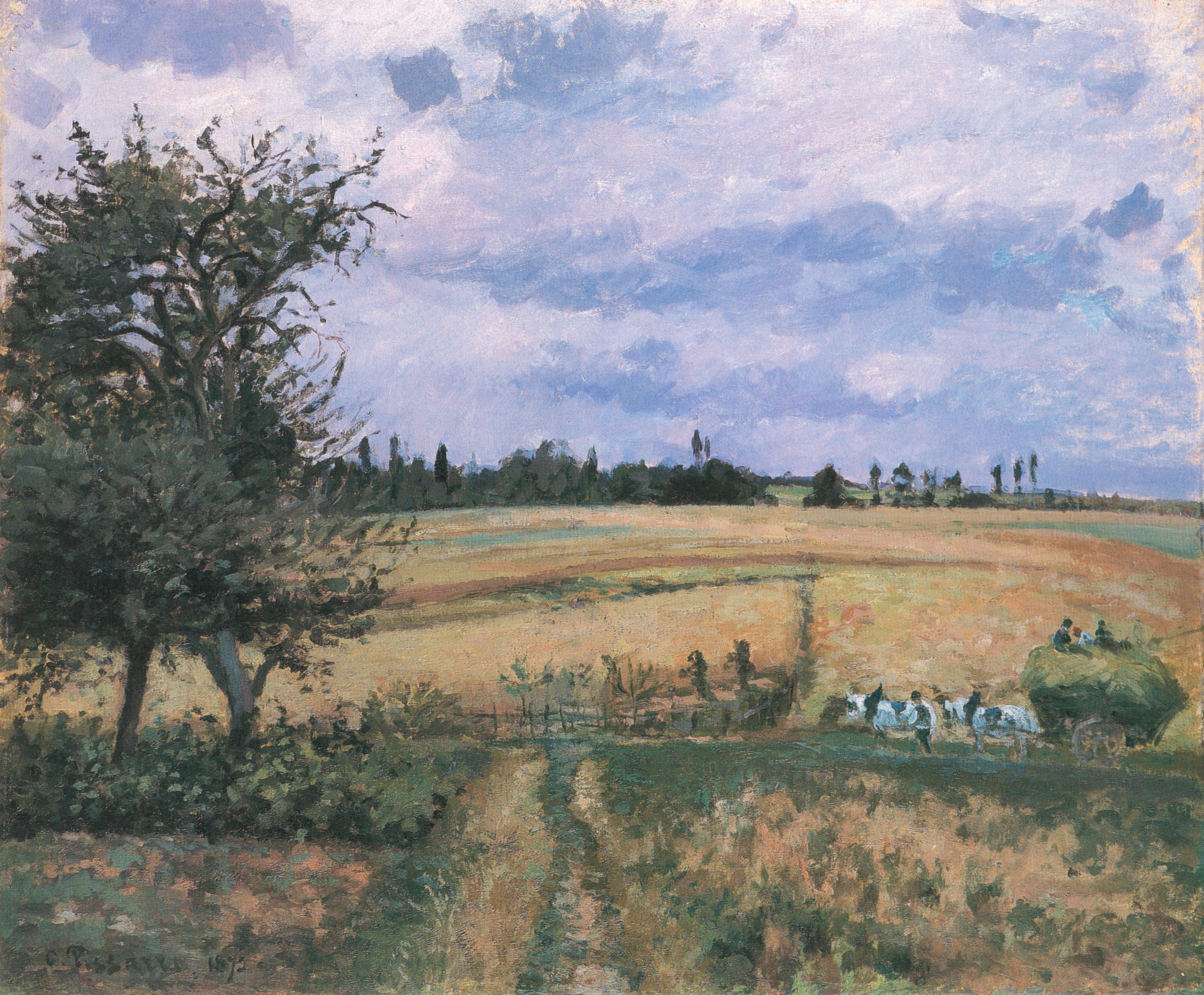 File Camille Pissarro Paysage à Pontoise 1872 Jpg