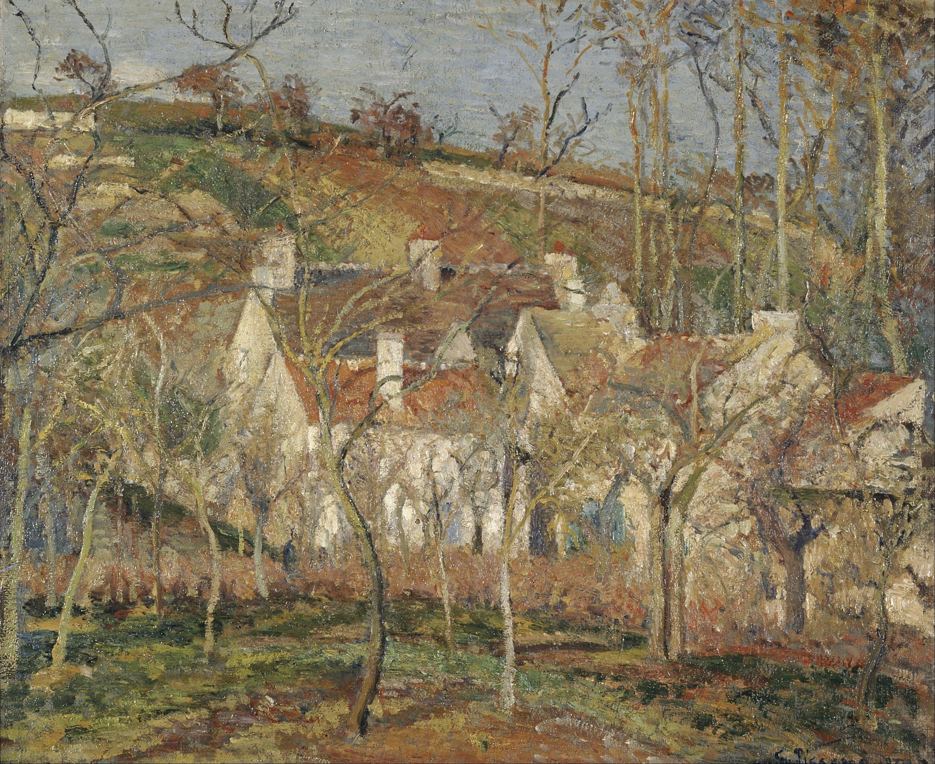 File Camille Pissarro Red Roofs Corner Of A Village
