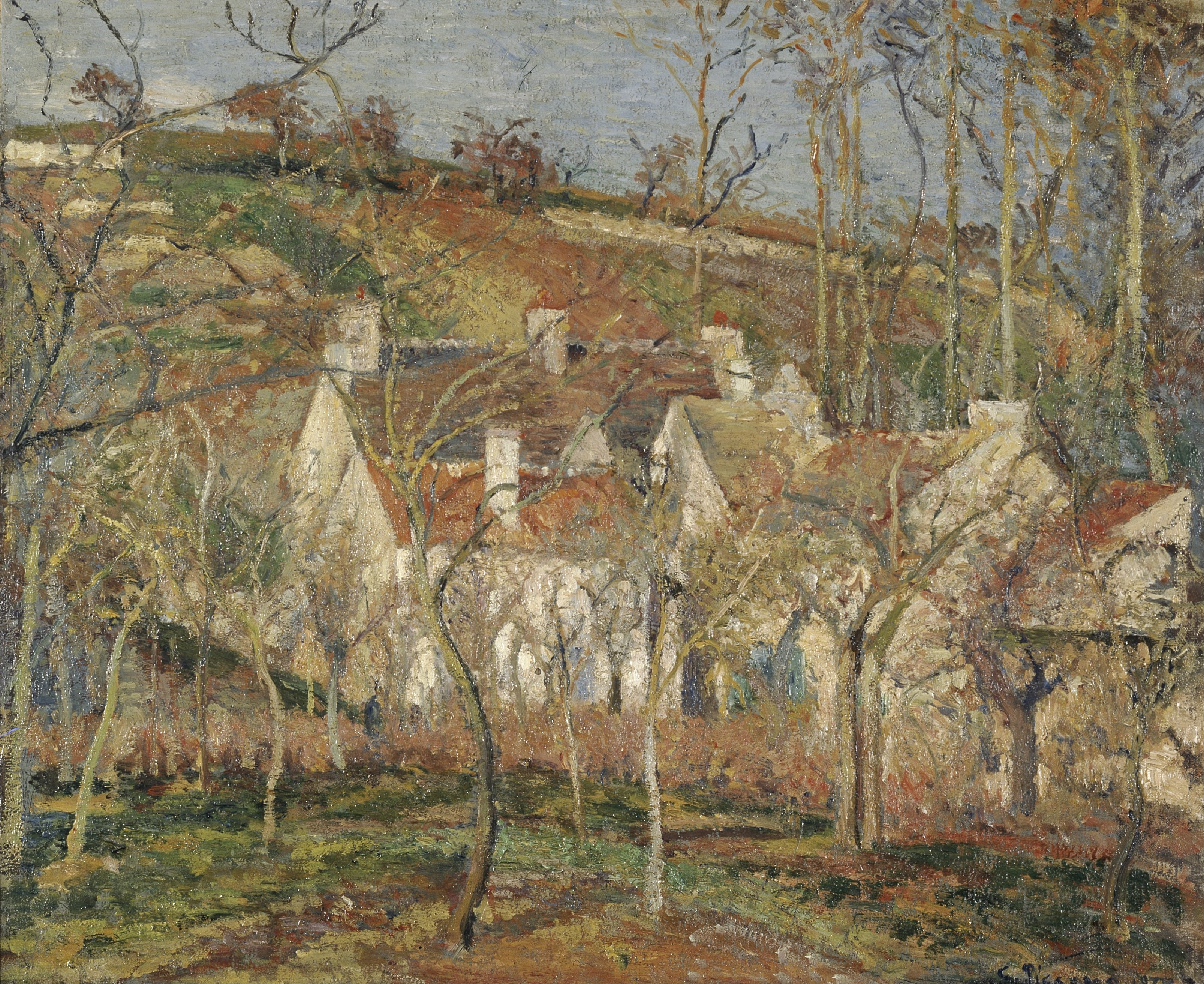 File Camille Pissarro Red Roofs Corner Of A Village