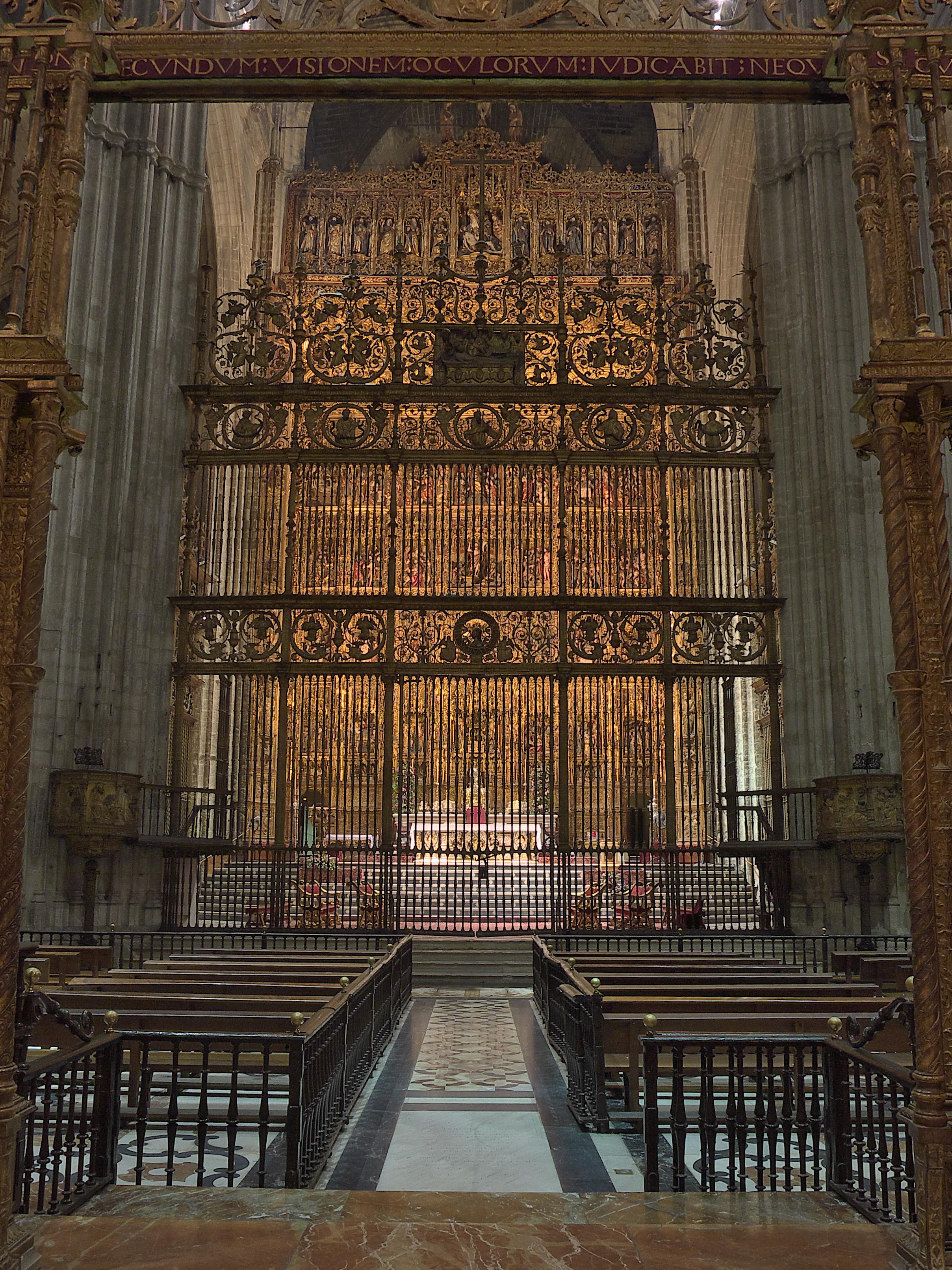 File Capilla Mayor Catedral De Sevilla Reja Jpg