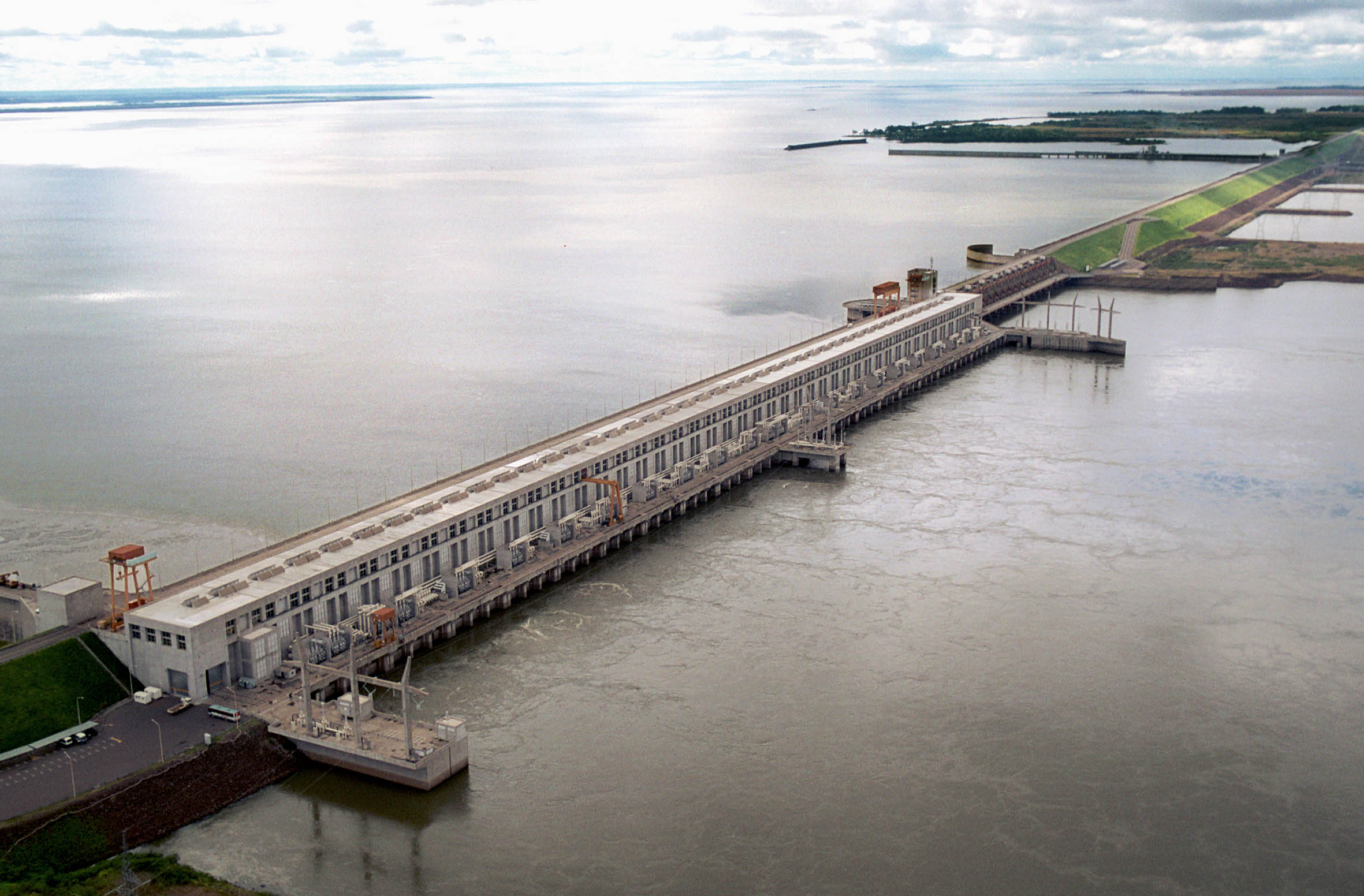 Yacyreta dam on the Parana river.