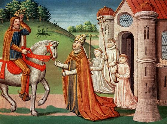 King [[Charlemagne]] (742–814) of the Franks