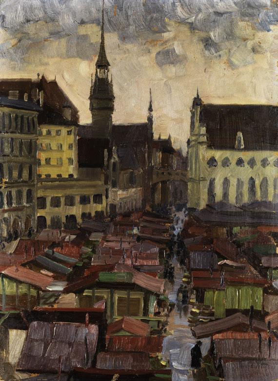 Chales Vetter Der Viktualienmarkt in München - Quelle: WikiCommons
