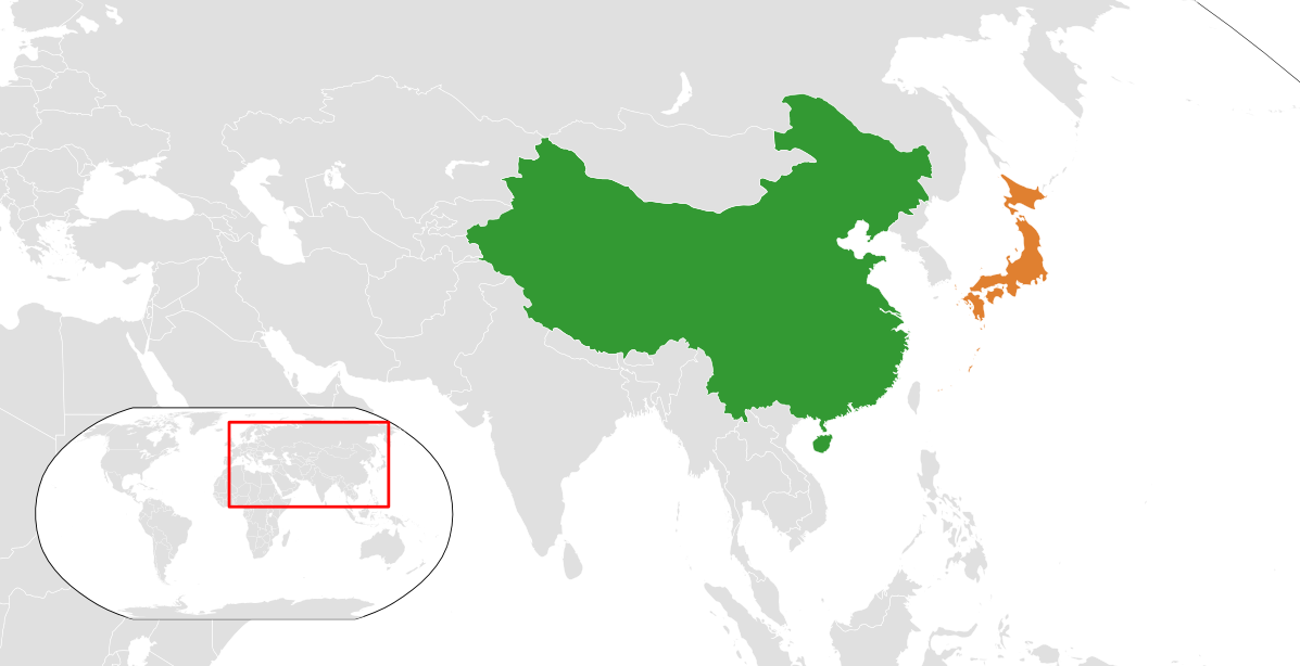 Map Of Asia Japan And China.China Japan Relations Wikipedia